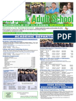 Burbank Adult School Spring 2016 Class Catalog