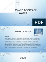 Forms and Bodies of Water