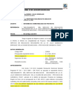 INFORME DE COMPATIBILIDAD CARABAYA.doc