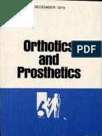 1974 Orthotics and Prosthetics