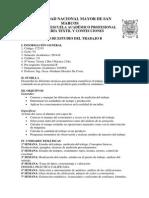 Silabo de Estudio de Trabajo B-2014 II