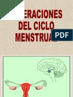 Ciclo Menstrual Alteraciones