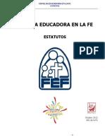 Estatutos Familia Educadora en La Fe