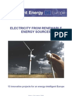 Intelligent Energy - ELECTRICITY FROM RENEWABLE ENERGY SOURCES - 13 innovative projects for an energy-intelligent Europe