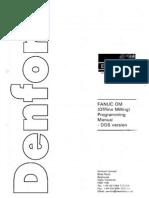 Fanuc Offline Milling Programming Manual DOS Version