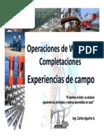 Operaciones de Workover Completaciones