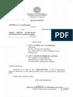 291786208 Comelec Resolution on Elamparo vs Llamanzares