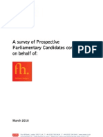 Parliamentary candidates' use of social media