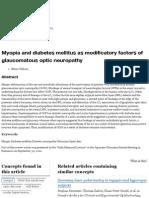 Myopia and Diabetes Mellitus as Modific...Aucomatous Optic Neuropathy - Springer