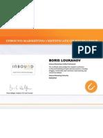 Boris loukanov IMU Certificate