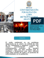Contaminacion Por Ruido en Lima Metropolitana