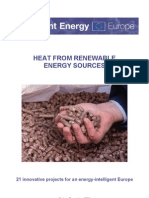 Intelligent Energy - HEAT FROM RENEWABLE ENERGY SOURCES - 21 innovative projects for an energy-intelligent Europe