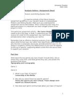 genre analysis outline assignment sheet