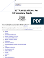 Machine Translation - An Introductary Guide, Arnold