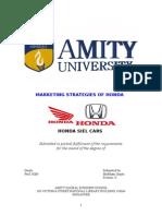 HONDA Marketing Strategies of Honda SIEL Cars India Ltd