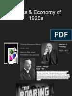 politics   economy of 1920s