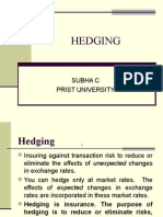 Introduction of Hedging