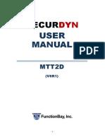 MTT2D Manual Korean