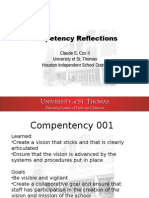 Compentency Reflections