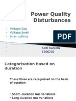 Volatge variation  disturbances in power quality