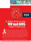 A Policy Brief on the HIV and AIDS Legal Framework