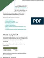 Equity Value vs Enterprise Value - Wall Street Mojo