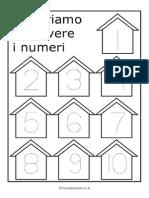 Schede Imparare Scrivere Numeri