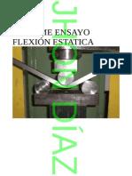 Informe Ensayo Flexion Estatica