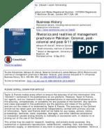 Rhetorics and Realities of Management