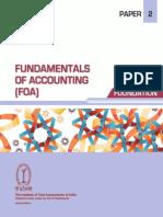 Paper 2 - Fundamentals of Accounting