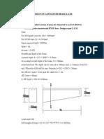 Design of Cantilever Beam