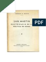 San Martín Doctrinario de La Política de Rosas