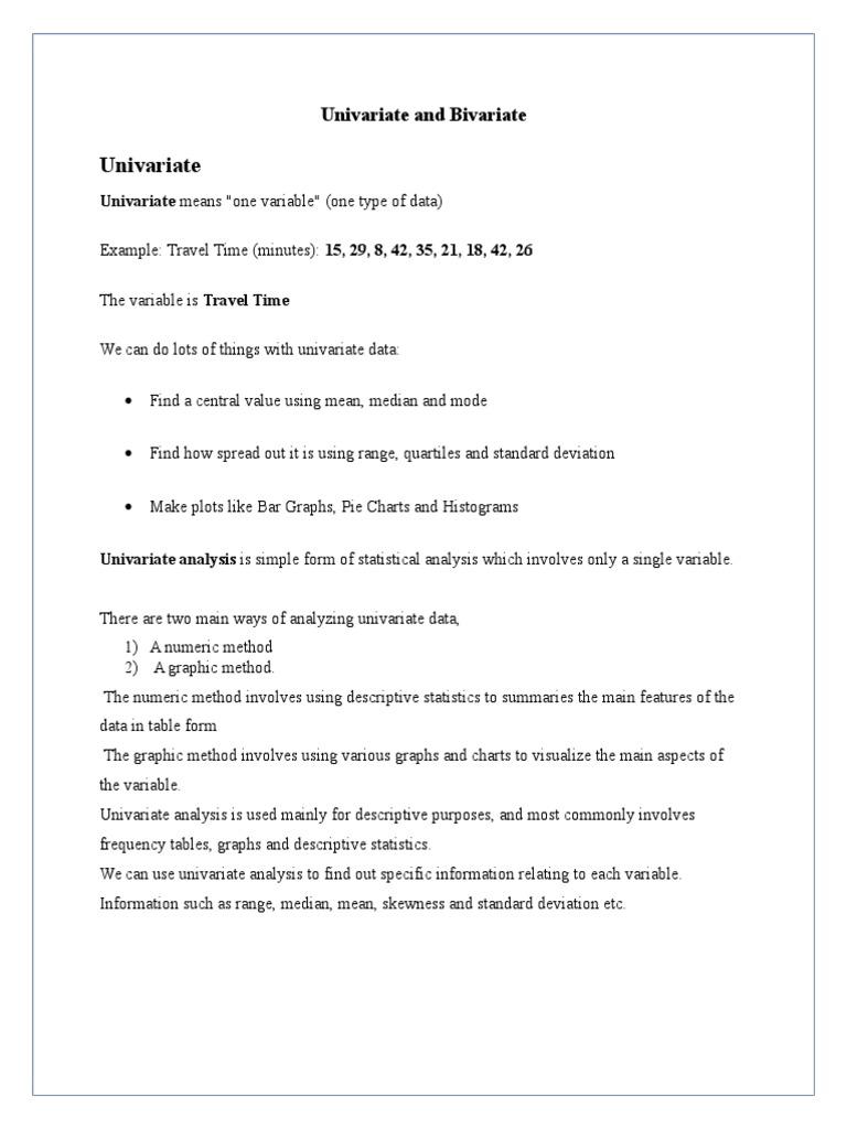 Univariate and Bivariate | Descriptive Statistics | Median