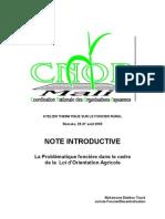 Atelier thématique sur le foncier rural - Note d'Introduction LOA