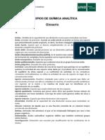 Glosario de química analitica