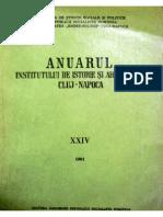 Crisan I.H. - Despre Sanctuarul Mare Rotund de La Gradistea de Munte(AIIA-Cluj,XXIV,1981)