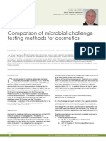 Comparison of microbial challenge testingmethods for cosmetics