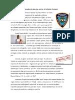 Ensayo sobre la situación salarial de la Policía Nacional