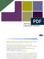Expatriate Training