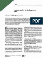 Rock Mass Characterization for UG Hard Rock Mines
