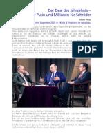 Oliver Kloss 2005  Der Deal des Jahrzehnts - Schröder-Putin-Pakt