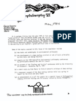 6. Sessions George Ecophilosophy Newsletter 6 May 1984