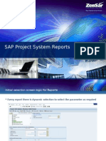 SAP Project System Reports