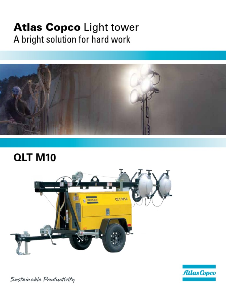 Atlas Copco Qltm10 Lighting Tower Electricity Electrical Engineering Light Wiring Diagram