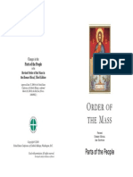 Parts of the People - Order of the Mass