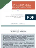 Politica Minera de Republica Dominicana