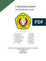 Studi Kelayakan Bisnis ( Aspek Ekonomi Dan Sosial)