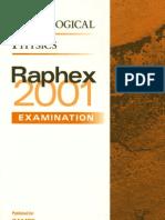 Raphex 2001 Questions