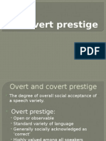 Covert Prestige