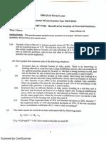 7101 Sem 2013 Quantitative Analysis of Financial Decisions